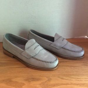 G.H Bass Weejuns Gray Suede Penny Loafers Size 7.5